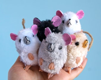 Rat mini art plush