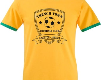 Trench Town Football Club T-Shirt - Kingston - Jamaica, Inspired By Bob Marley, Various Sizes/Print Colours