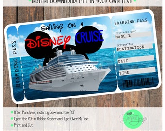 Cruise Ticket Etsy - How much is a cruise ship ticket
