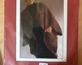 Merchant Rag Sunrise Jacket - Easy to Make Wrap Front with Wide Sleeves and Patch Pockets - Size 6 8 10 12 14 16 18 20 22 24 26