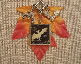 Halloween Bat Necklace
