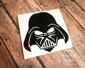 Star Wars Darth Vader Decal for Cars, YETI Cups, Laptops, and More! | Disney Car Decal | Disney Macbook Decal | Star Wars Sticker