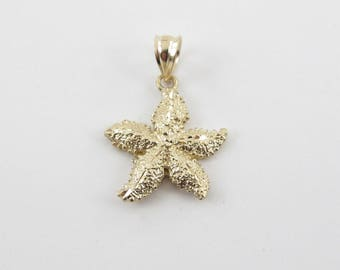 14kt Yellow Gold Starfish Pendant - 14kt gold Starfish Charm