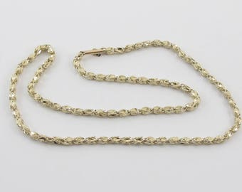 14k Yellow Gold Turkish Style Link Chain Necklace 18 Inches 13 grams