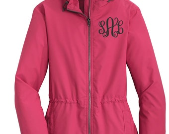 Monogram Raincoat - Personalized Rain Jacket - Raincoat - Monogram Raincoat -Monogram Rain Jacket - Ladies Rain Coat -Yellow Rain Jacket
