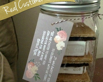 Wedding Favor Tags / Favour Tags / Gift Tags / Custom Tags / Wedding Tags / Personalized Favor / Custom Printed Tags / In Lieu of Favors