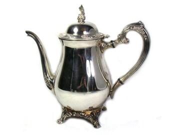 Silver Coffee Pot Etsy