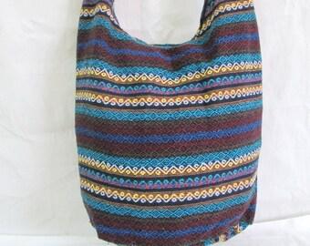Travel Bag Boho Hippie Hmong Hill Tribe Cross body Bag Shoulder Bag Messenger Bag Woven Cotton