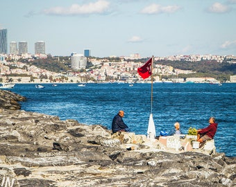 Fine Art Photography - At the edge of the Bosphorus - Photo Canvas - Istanbul - Turkey - Wall Decoration - Travel