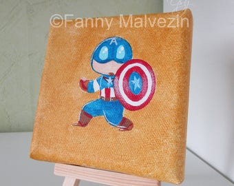 Captain America (Marvel) - Mini painting