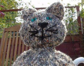 Hand Knitted Tabby Cat Tea Cosy