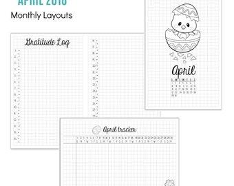 INSTANT DOWNLOAD: April 2018 Krafty Planner Kit - PDF