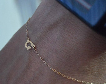 Initial bracelet 14k,Birthday gifts letter bracelets,Initial bracelet gold, Letter bracelet gold,Alphabet bracelet,Bracelet,Initial jewelry