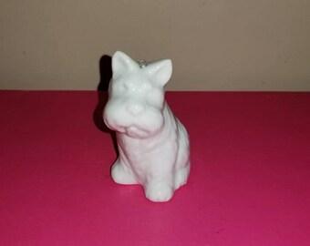 Vintage White Terrier Ornament,Terrier Figurine,Kitschy,Puppy,Dog,Kitsch,Porcelain Terrier,Terrier Pup,Japan,Dog Figurine,Puppy,1960s