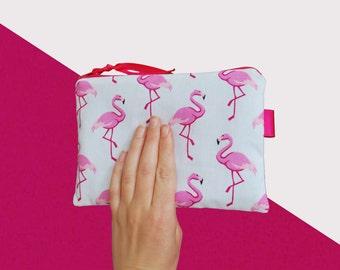 Hot pink flamingos inside pocket