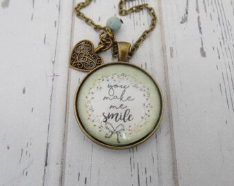 SPECIAL ORDER: You Make Me Smile Necklace/Keychain
