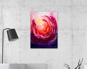 Rise Again Collection - 18x24 on Stretched Canvas, Abstract Art, Bright Home Decor, Wall Decor, Interiors, Fall Decor