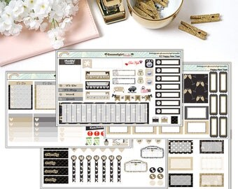 New Years weekly kit | planner stickers