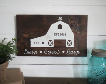 Barn House Decor collect this idea rustic barn conversion kitchen ideas Custom Farm House Sign Horse Sign Custom Barn Sign Custom Farm Sign