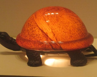 Night Light Turtle / Gift / Animals/Reptiles/ Home Decor  /  Home and Living /Novelty /Whimsical Lamp/ Child's Room Decor/ Tiffany Style