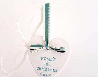 Baby's first Christmas, new baby, Christmas baby, personalised Christmas decoration, christmas gift, baby keepsake, baby name gift