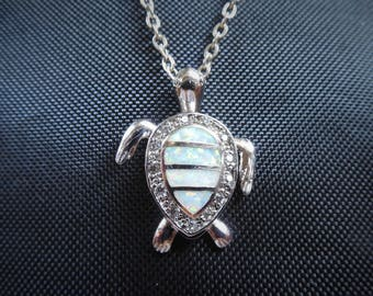 "Turtle Pendant - Ladies Silver Pendant with 16"" Chain"