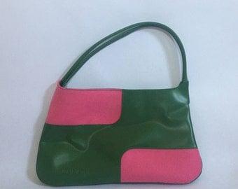 Green/Pink Clinique Purse