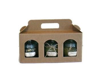 Herb Jars Gift Set-Greek Organic Herbs-Vegan Food-Gourmet Present-Cooking Herbs-Dried Herbs:Oregano,Sage,Basil,Mint,Savory,Salt/Chef gift