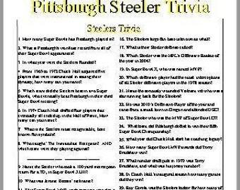 Pittsburgh Steeler's Trivia Quiz