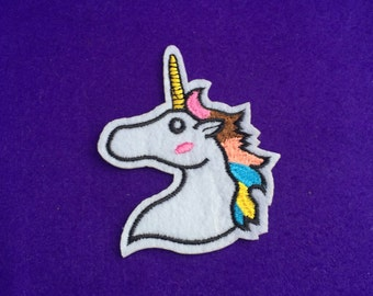 Unicorn iron on patch / sew on patch