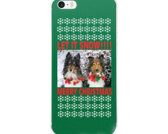 Let It Snow Shelties Christmas iPhone Case
