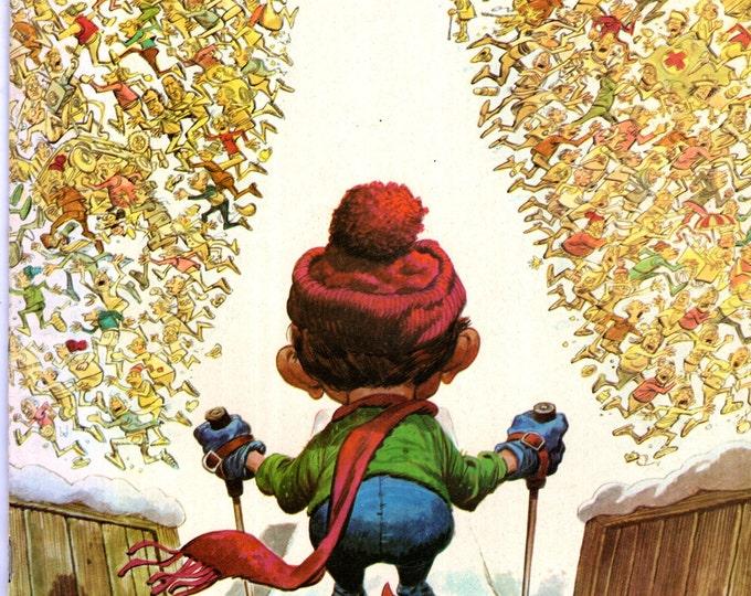 MAD Magazine #173 March 1975 Alfred E Neuman Ski Skiing Cover