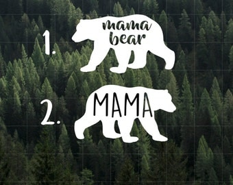 Mama Bear Vinyl Decal | Car Decal | Laptop Decal | Yeti Decal | MacBook Decal | Water Bottle Decal | Mom Life | Mama Bear
