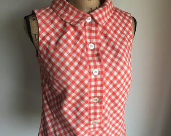 Vintage Sleeveless Top - Gingham