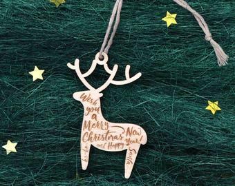 Wooden CHRISTMAS TREE ORNAMENTS // Wood Christmas Decoration - Wood Ornaments - Wooden Christmas Ornaments -  Wood Christmas Tree Decor