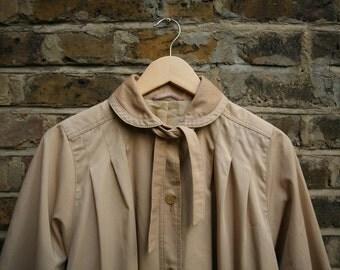 Vintage camel beige mac ladies raincoat size 12 medium