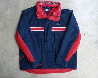 1990's Tommy Hilfiger Jacket Vintage Tommy Winter Coat Tommy Hilfiger 90s Tommy Hilfiger Jacket Tommy Bomber 90s Tommy Jacket