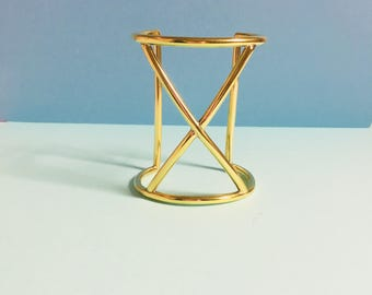 X Cuff, brass cuff bracelet, handmade bracelet, minimalist jewelry, wide gold bracelet, gift for her, wide cuff bracelet, boho