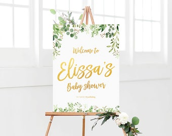 Bridal Shower sign, Baby shower sign, Baby Shower Welcome Sign, Bridal Shower decorations, Greenery Welcome sign, Baby Shower Decorations