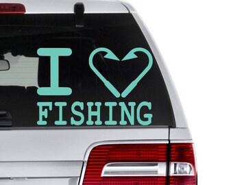 Fishing Decal, Fishing Love Decal, Fishing Lover Gift, Fishing Gift for Dad, Fishing Boat Decal, Fisherman Gift, Kids Fishing Decal, Fishing