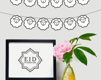 Sheep Garland for Eid Al Adha, DIY Eid Decorations