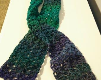 Island Lace Crochet Scarf - Dragonfly