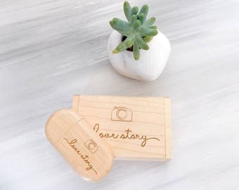 Anniversary Gift Wedding USB Flash Drive Wedding Gifts for Her Gift for Gouple Personalized Wedding Memory Gift for Him Personalized Wedding