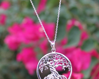 Tree Of Life - Silver Necklace - Spiritual Pendant.