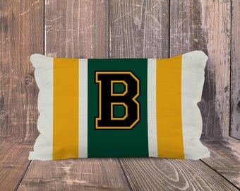 Baylor Bears Pillow, Personalized Baylor University Pillow, Preppy Baylor University Pillow, Monogrammed BU Pillow, Baylor Varsity Pillow