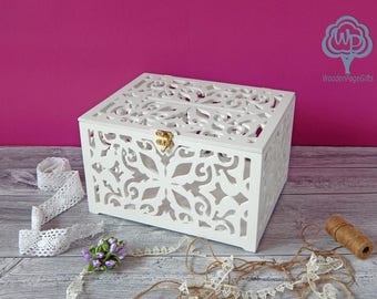 Wedding card box with slot Wedding gift box Wedding Gift Card Box Wooden Money Box Wedding Keepsake Box Wedding signs wedding card holder