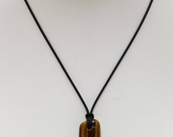 Tiger Eye Pendant Necklace, Free Shipping (18369), Tiger Eye Necklace, Tiger Eye Mala Pendant, Pendantlady,pq