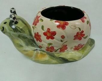 Ceramic Snail Planter