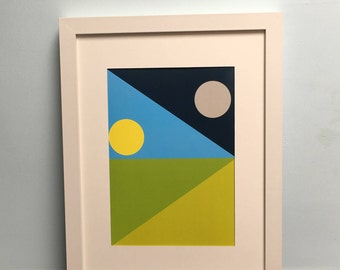 Sky and Field Art Print