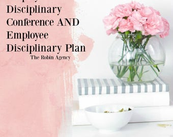 Employee Disciplinary Conference AND Employee Disciplinary PlanTemplates, Office Form, Business HR Tools